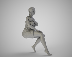 3D printable model Woman in Towel