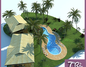 3D TROPICAL BUNGALOW RESORT