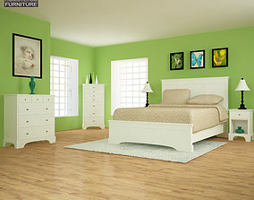 3D model Bedroom Furniture 28 Set