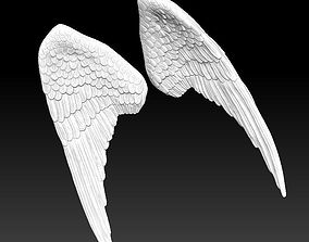 3D printable model angel bird pair wings