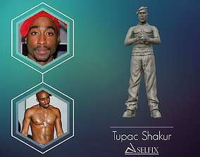 Tupac Shakur 3d sculpture miniatures