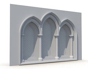Gothic Window 010 3D window