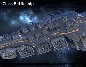 3D model Spaceship Battleship Valkyrie