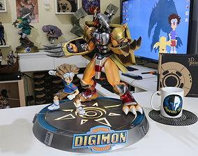Digimon Tai and Wargreymon 3D print model