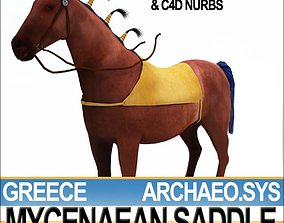 3D model Saddle Greek Mycenaean Bridle Harness
