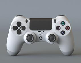 3D Dualshock 4 white