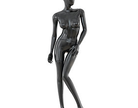Abstract female mannequin 04 3D