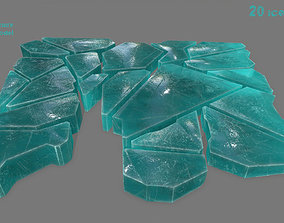 ice set 3D model low-poly