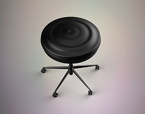 leather 3D model Bar chair