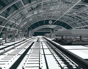 3D Train Station 09