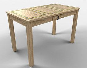 Sunflower Rustic Table 3D model