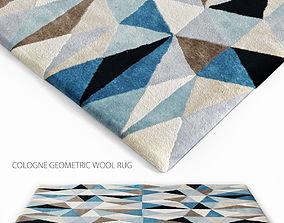 Cologne geometric wool rug 3D