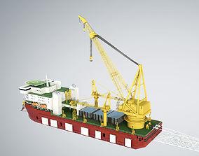 Pipelay Crane Vessel SK 3500 3D