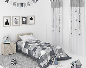 Decorative set for a Kids bedroom 3D