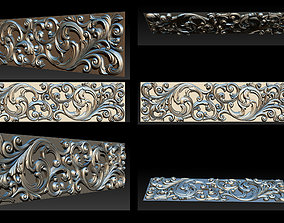 3D STL Models CNC Router - Carved decor onlay