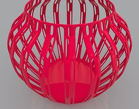Perforated Vase Geometric Shape 3D Print Model geometric
