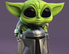 3D printable model Grogu - Baby Yoda and Helmet