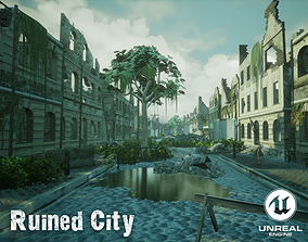 Ruined City Unreal Engine 3D model