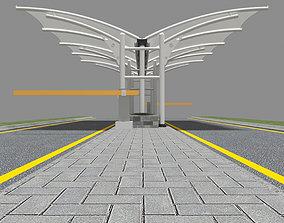 tensile Membrane Canopy 1 3D model