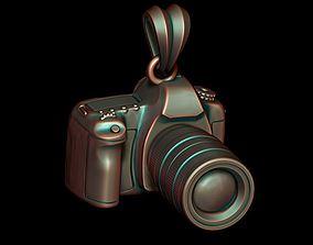 3D printable model photo camera pendant