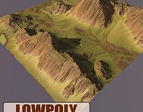 Lowpoly Mountain 3D model game-ready hills