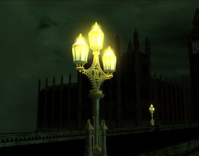 Westminster Bridge Lamp gritty-style 3D
