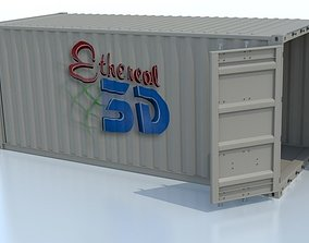 3D model Industrial Shipping Container