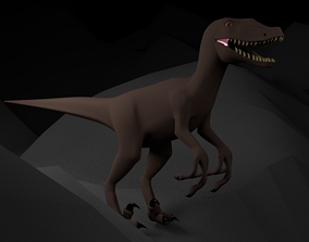 3D model Dinosaur Raptor