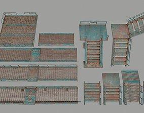 3D asset stairs set