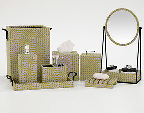 Bathroom decorative set glass 3D