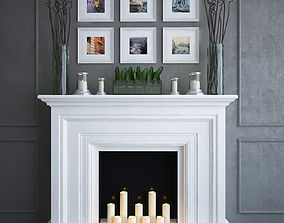 candle 3D Fireplace 3
