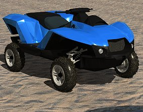 watercraft amphibian vehicle 3D