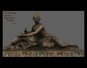 3D asset realtime old statue