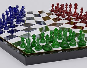 3 Player Chess board - Games Collection 3D printable model