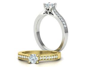 Engagement Ring Heart design ring 3dmodel rings