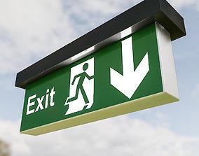 3D asset Exit Sign