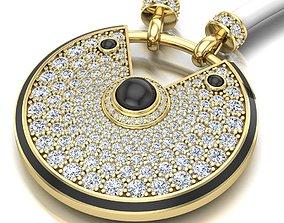 Pendant Necklace big model gold link