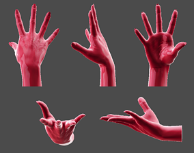 Detailed Female Hand-Fingers Stretched 3D printable model