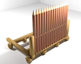 Medieval War Machine - Ramp Shield 3D