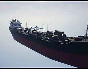 3D asset Post-apocalyptic oil tanker