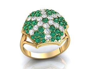 3D printable model fashion-ring Jewel Set Gold