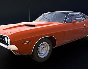 Dodge Challenger RT 3D asset rigged