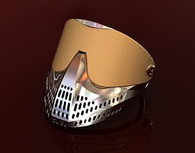 3D print model Paintball Mask Ring Silver and Gold