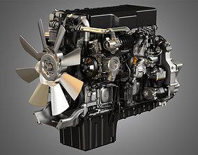 DD15 Heavy Duty Truck Engine - 6 Cylinder 3D model 1