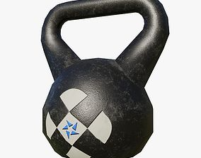 Gym Kettlebell - Low Poly 3D
