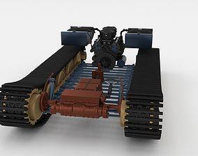 3D Panzer Tiger Drivetrain