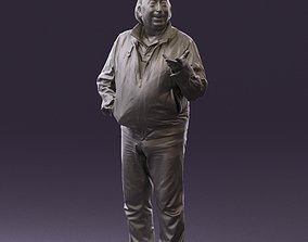 Funny fat man in sprot suit 0798 3D Print Ready