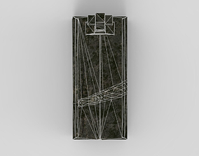 Lowpoly Gravestone 3D asset low-poly