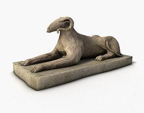 3D model Egyptian sphinx ram statue