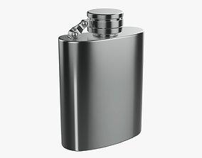 3D model Liquor flask stainless steel 09